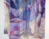 shawl from 100% silk. Handpainted
