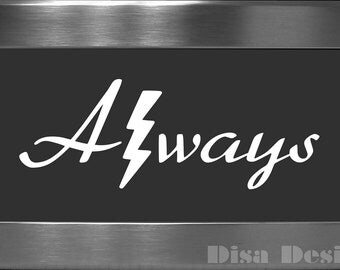"Harry Potter inspired ""Always"" vinyl decal - Car decal - Macbook decal - Harry Potter decal - Deathly Hallows decal"