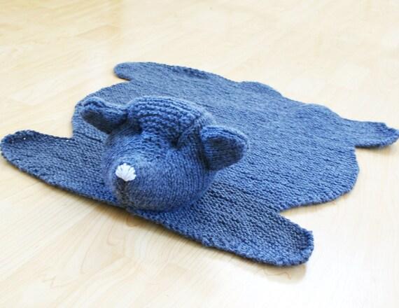 Bear Rug Knitting Pattern : Diy knitting pattern teddy bear skin rug acrylic throw