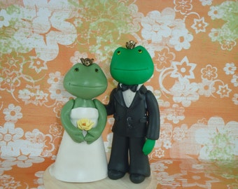 Custom Made Frog Wedding Cake Toper
