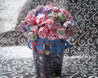 Dum Dum Lollipop Bouquet / Centerpiece - Batman Theme