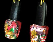 Confetti Polish Bottle Earrings