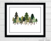 Tree Collage - Fine Art Giclee Print - 8x10 - TheCuriousNickel