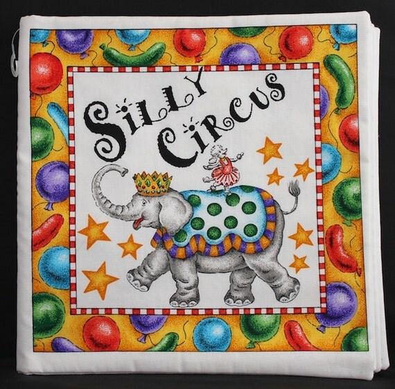Quiet Book - Silly Circus - Cloth Book