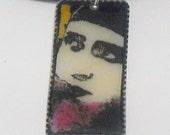 Plastic Portrait Pendant