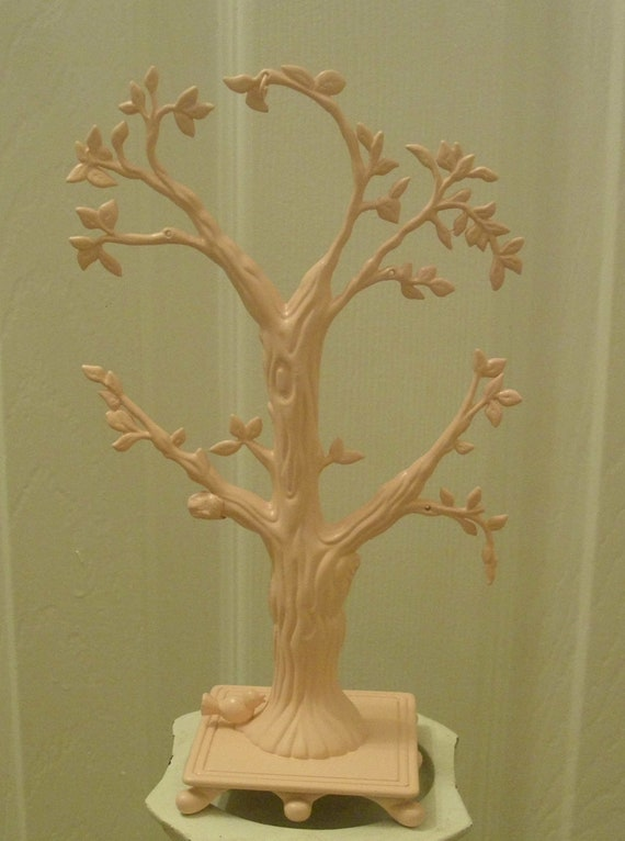 Jewelry Tree Pink Girls Jewelry Holder Metal Upcycled