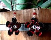 Recycled Coke Zero Earrings