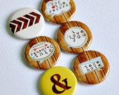 For The Record - set of six badges/ flair buttons