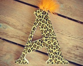 Cheetah Print Wooden Letters