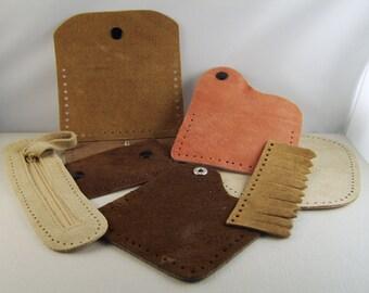 Tandy Suede Leather Pieces Destash