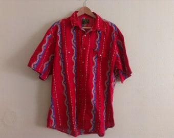 70s vintage men's extra large XL wrangler western shirt pocket folded