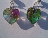 Rainbow Heart earrings - kristinejanowiak