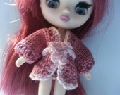 Hand Knitted Sweater for small doll (petite blythe,Real Puki, Lati White, Little Pullip or 4 inch doll)