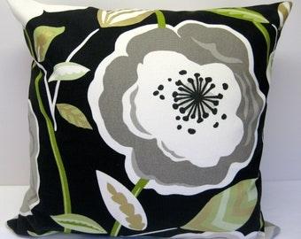 Pillow Cover 18 x 18 Poppy Licorice