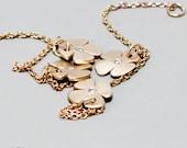 Charm bracelet, flower charm bracelet, 14k gold bracelet, gold and diamond bracelet, yellow gold bracelet, rose gold bracelet,