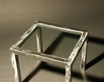 Modern Brushed Steel End Table