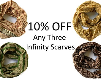SALE 10% Off any Three Maelu Infinity Scarves