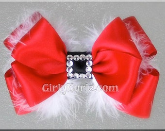 Christmas Hair Bow, Santa Hair Bow, Santa Baby Hair Bow, Christmas Hair Clip, Special Occassion Hair Bow, Hair Bow for Girls