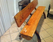 rustic log benches indoor or outdoor