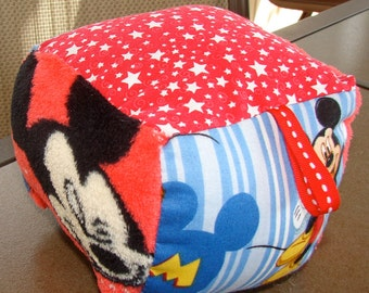 Mickey Mouse or Minnie Mouse soft baby blocks