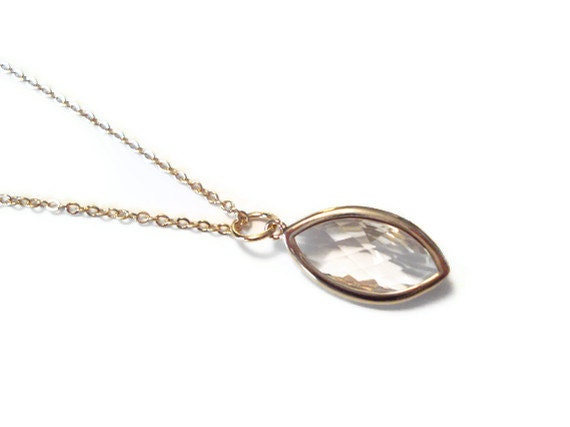 Marquise Pendant Necklace