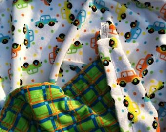 Minky Baby Blanket, Car Minky Blanket, Infant Blanket, Baby Boy Blanket, Stroller Blanket, Car Seat Blanket 29 x 36