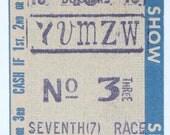 1965 Horse Racing 10 Dollar Tote Ticket