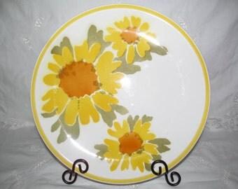 Vintage Mikasa Cera Stone Platter Flora Pattern