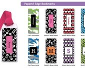 Personalized Kids Bookmarks with ribbon - Skull bookmarks, camo bookmarks, hearts bookmarks, star bookmarks