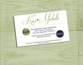 printable info card for wedding invitations