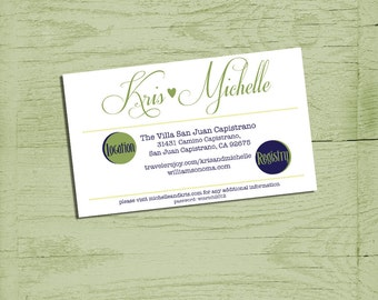 printable info card for wedding invitations