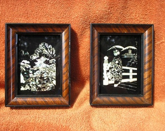 Japanese glass pictures