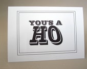 """Funny Card, Friendship Card, Just Because Card - """"You's A"""""""