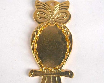 1 Brass Owl Charm Setting - 22-14-2