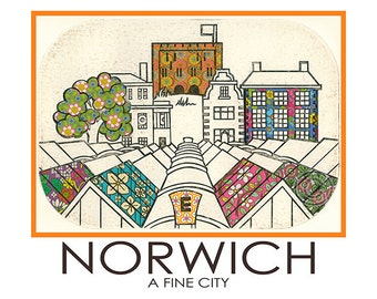Norwich Travel Poster