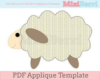 Sheep Applique Template PDF