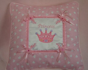 "Princess pink 16"" cotton  cushion or pyjama  nightdress case"