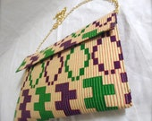Royal Kente Clutch (with chain attached)