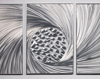 Modern Abstract Painting Metal Wall Art Sculpture Swirl