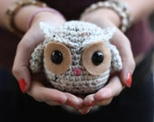 Crochet Owl - Oatmeal and Tan (Made to Order)