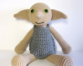Dobby the House Elf inspired amigurumi. Handmade crochet doll. Dobby doll