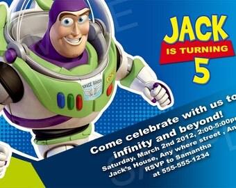 Toy Story  Invitation - Printable Buzz Birthday Invitation