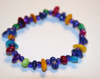Stretchy multi colored bracelet.