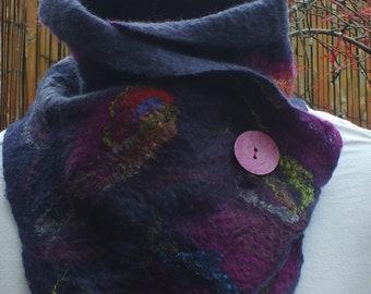 Handmade Felted Scarf/ wool felted scarves/ handmade felt scarves/Merino wool felted scarves.