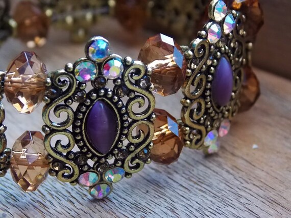 Fancy Fantasy Victorian Costume Jewelry Bracelet