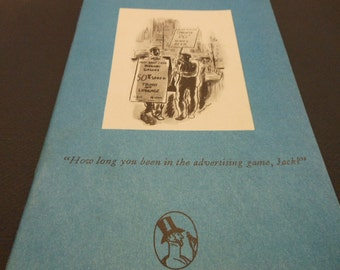 THE NEW YORKER Advertising Collection of Humorous Cartoons 1931-1953 Famous Illustrators Darrow, Addams, Alain, more Vintage Paperback Book