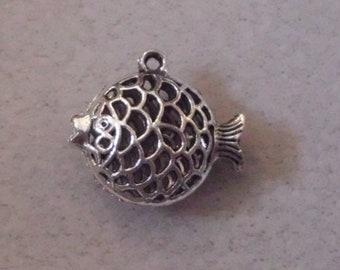 Silver Fish  Charm