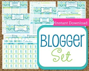 INSTANT DOWNLOAD Blog Managment Kit- Blog Planner-12 Sheets available for Instant Download