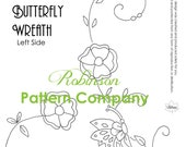 PDF Vintage 1930s Embroidery design sheet - Butterfly Wreath