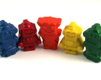 Kids Fun Shaped Robot Crayons